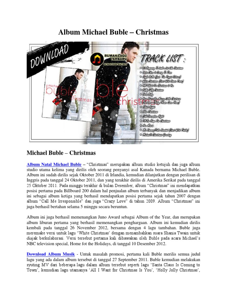 Album Michael Buble – Christmas