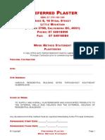 Preferred Plaster WMS v2.doc