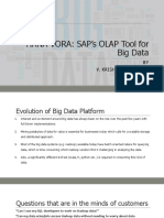 Sap Hana Vora Sap's Olap Tool for Big Data