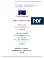 CERTIFICATE FOR AMNIOCENTESIS TEST