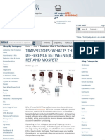 Transistors_ What is the Difference Between BJT, FET and MOSFET_ - West Florida Components