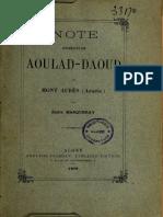 Note concernant AOULAD-DAOUD du Mont Aures