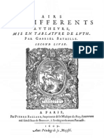Airs - Bataille - Livre 2e - 1609