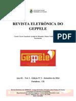 Revista Eletrônica Do Geppele Número 3 Setembro de 2014