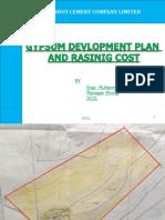 Gypsum Devlopment Plan & Raising Cost