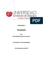 Evaluación I Portafolio
