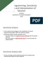 Chapter 8 Linear Programming Sensitivity Analysis