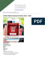 Novonous - Global Mobile Payments Market 2016 - 2020 - 2016-04-07
