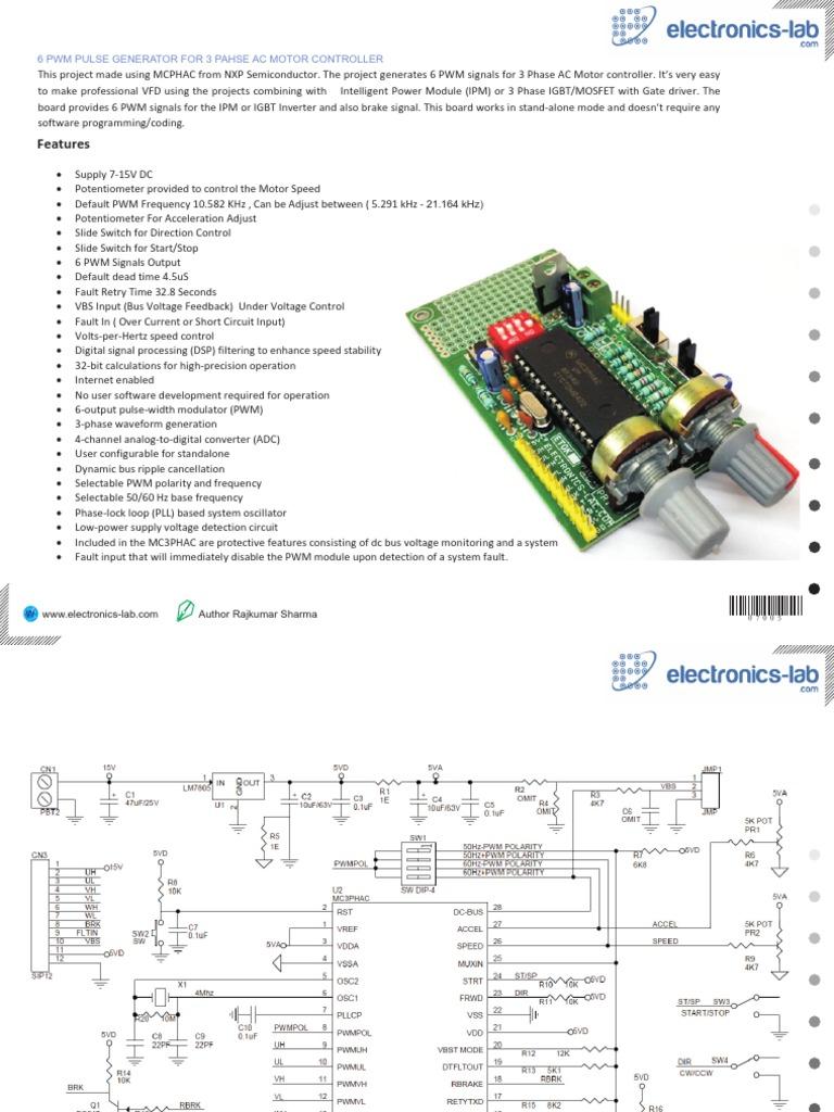 3 Phase Motor Driver Power Inverter Analog To Digital Converter Methods For Automotive Electronics Circuits Electronicslab