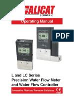 Liquid Flow Meter Controller Manual