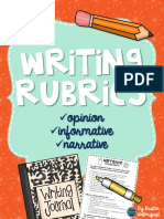 writingrubrics3rdgradeopinioninformativenarrative