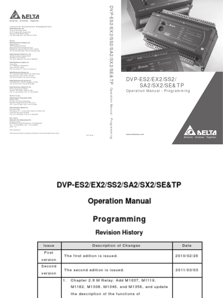 Delta Ia Plc Dvp Es2 Ex2 Ss2 Sa2 Sx2 Se Tp Pm en 20170426 | Input