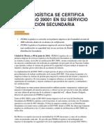 FEMSA LOGÍSTICA SE CERTIFICA CON EL ISO 39001 EN SU SERVICIO DISTRIBUCIÓN SECUNDARIA.docx