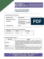 Hoja de Seguridad Nitrato de Plata v1.1