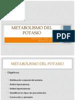 Metabolismo Del POTASIO (K)