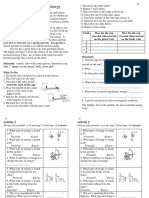 energy activity - exit tickets