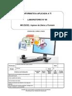 Lab 06 - Microsoft Excel Ingreso de Datos y Formatos