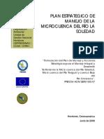Plan de Manejo de La Microcuenca Del Rio de La Soledad