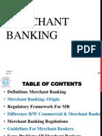 4. Merchant Banking