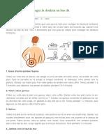 4 Exercices Pour Soulager La Douleur Au Bas Du Dos