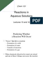 Aqueous Solutions Reactions