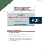 Clase 9 Teoría de Consolidación