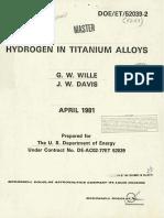 Hydrogen in Titanium Alloys