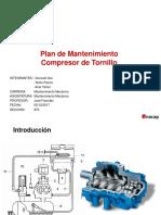 Plan de Mantenimiento Compresor de Tornillo