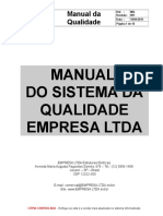 Ex Emplo de Manual Da Quali Dade