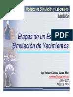Etapas de un Estudio de Simulación de Yacimientos, Modelos de Simulación y Laboratorio 5, Nelson Cabrera, 2015.pdf
