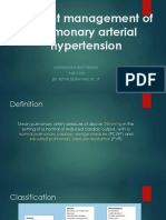 Current Management of Pulmonary Arterial Hypertension