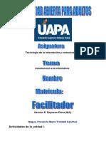 Tecnología de La Información y Comunicación i Tarea 1.