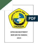 Form Oprec Bem Km Fk Ukrida 2015