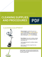 Cleaning Supplies and Procedures-cgv Nc II