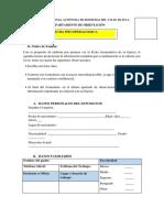 Ficha Psicopedagogica de Diagnostico