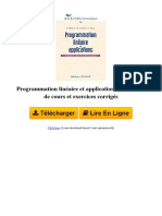 G48D Programmation Linaire Et Applications Elments de Cours Et Exercices Corrigs Par Khaled Mellouli Abdelkader El Kamel Pierre Borne 2710808447