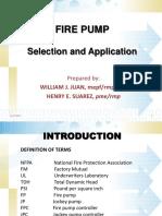 Fire Pump Selection