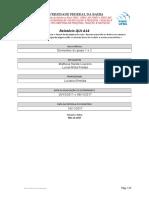 Modelo de Relatório QUI A14