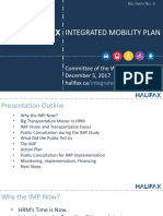Integrated mobility plan presentation