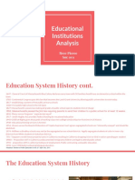 educational institutions analysis