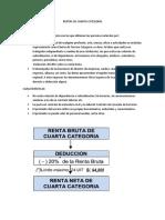 Rentas de Cuarta Categoria - Informe
