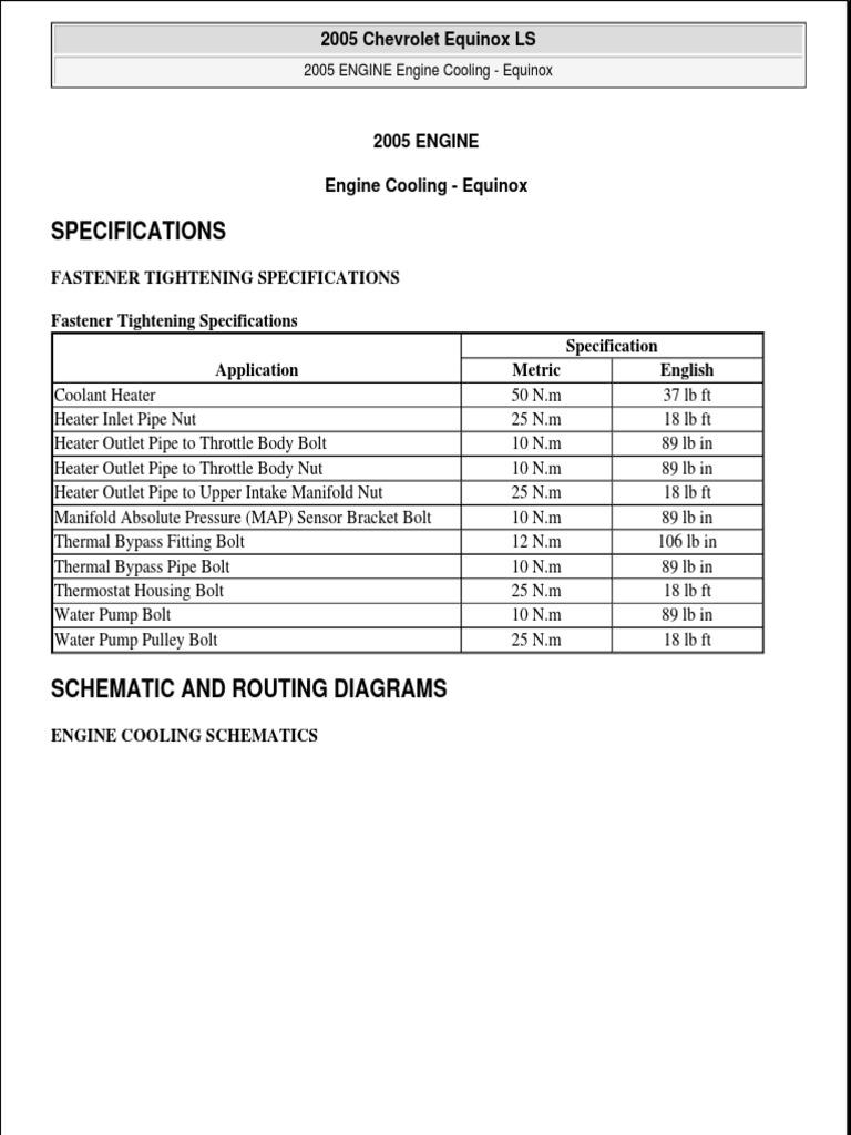 [XOTG_4463]  005 Chevy Equinox Engine Cooling Factory Repair Manual | Relay | Radiator | 2005 Equinox Engine Diagram |  | Scribd