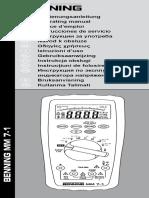 Benning Mm7 1 Manual