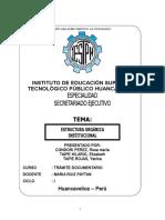 Estructura Organiza Institucional Monografia Tecno