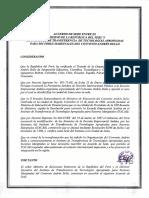 Acuerdo de Sede Entre Perú - Itacab