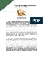 ASPECTOS FISCALES PARA DETERMINAR LA ESTRUCTURA LEGAL DE LAS EMPRESAS
