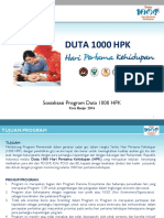 1. Penjelasan Program Duta 1000 Hpk
