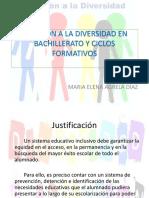 Atencion a La Diversidad en Bachillerato y Ciclos1