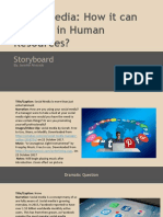storyboard template  1 - social media in hr