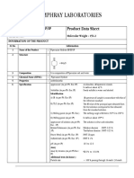 Piperazine Hexahydrate Data Sheet